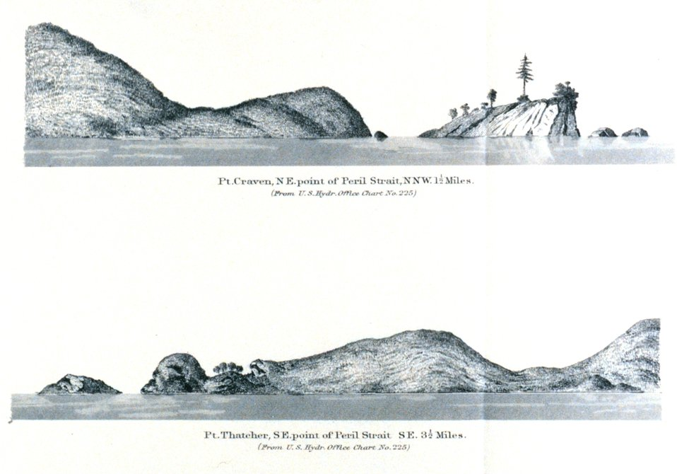 Point Craven.  Point Thatcher.  In: Pacific Coast Pilot Alaska Part I 1883.  P. 166.  Library call number VK943 .N3 1883.