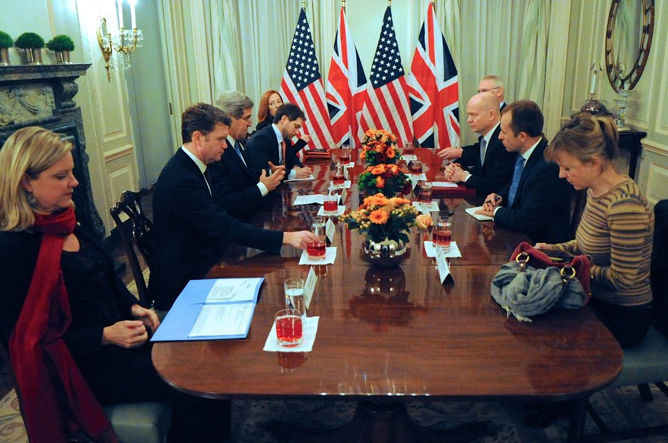 Secretary Kerry Holds Bilateral Meeting With British Foreign Secretary Hague