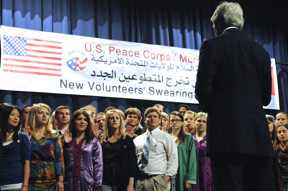 Secretary Kerry Swears-In Peace Corps Volunteers in Morocco