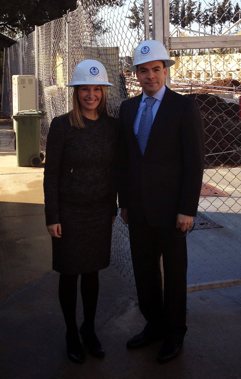 Deputy Secretary Higginbottom and Principal Officer Espinoza Tour New Construction at Consulate Adana