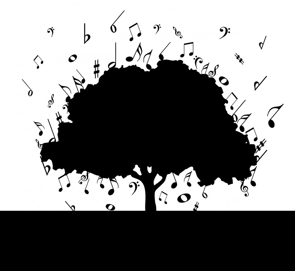 Musical notes tree