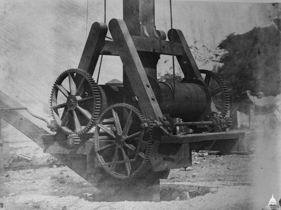 Winch in Dome Construction Yard c.1860