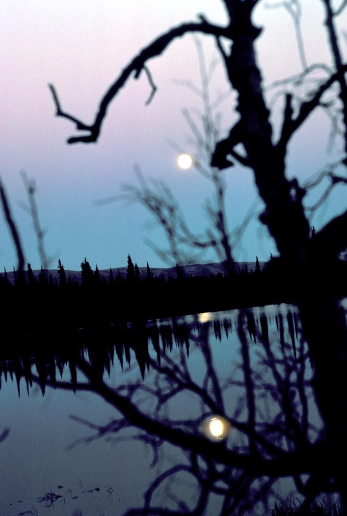 moon on lake