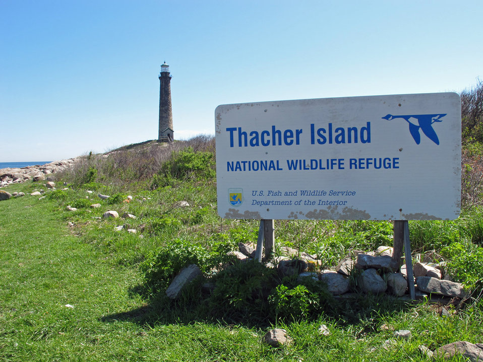Thacher Island sign