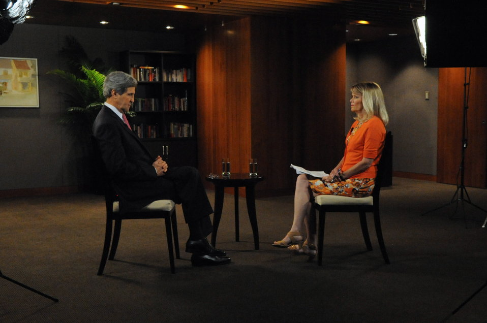 Secretary Kerry Sits For Interview With ABC's Raddatz