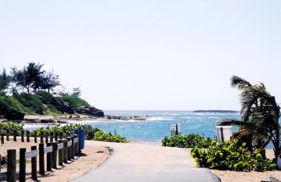 A shoreside trail on St. Thomas.