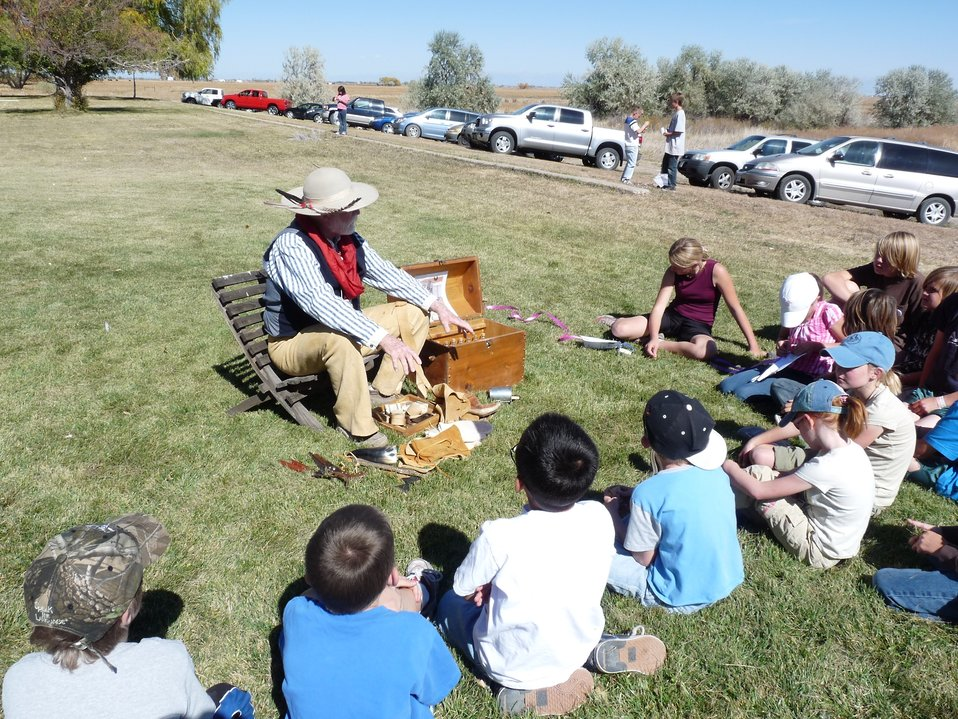Youth listen during Pioneer Story Days