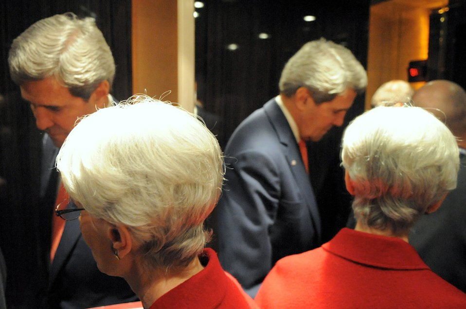 Secretary Kerry, Under Secretary Sherman Shuttle Between Geneva Meetings