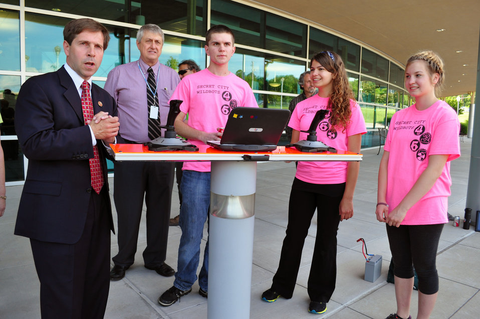 Congressman Chuck Fleischmann with Oak Ridge HS Robotics Team Tennessee Valley Corridor 2013 Oak Ridge