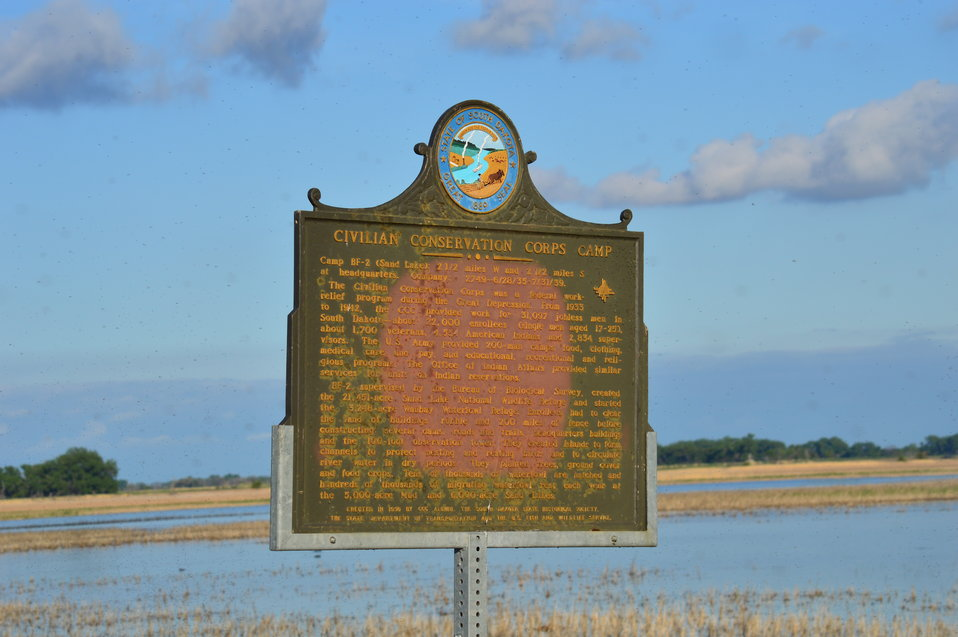 Historic Landmark - Civilian Conservation Corps Camp sign