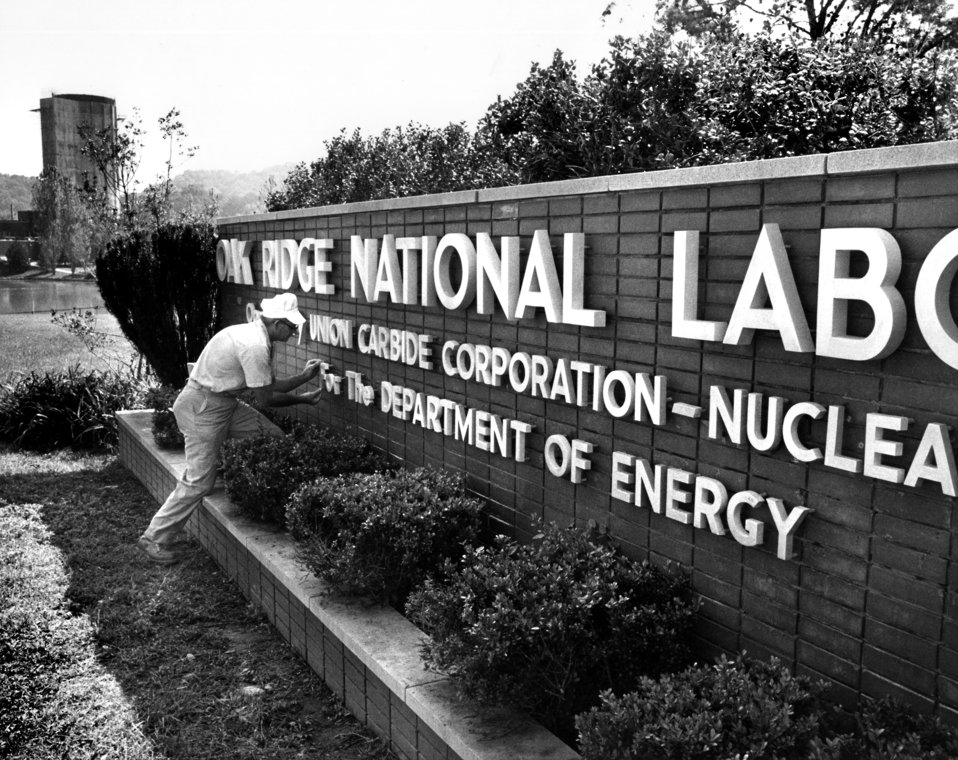 Sign at ORNL Oak Ridge