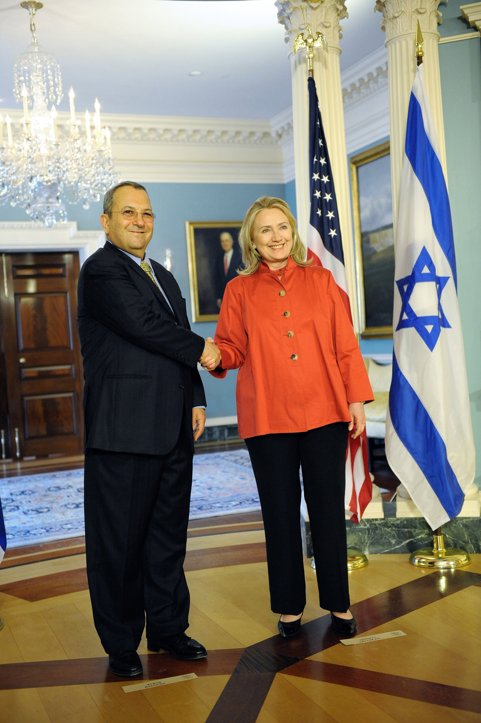 Secretary Clinton Meets With Israeli Defense Minister Barak