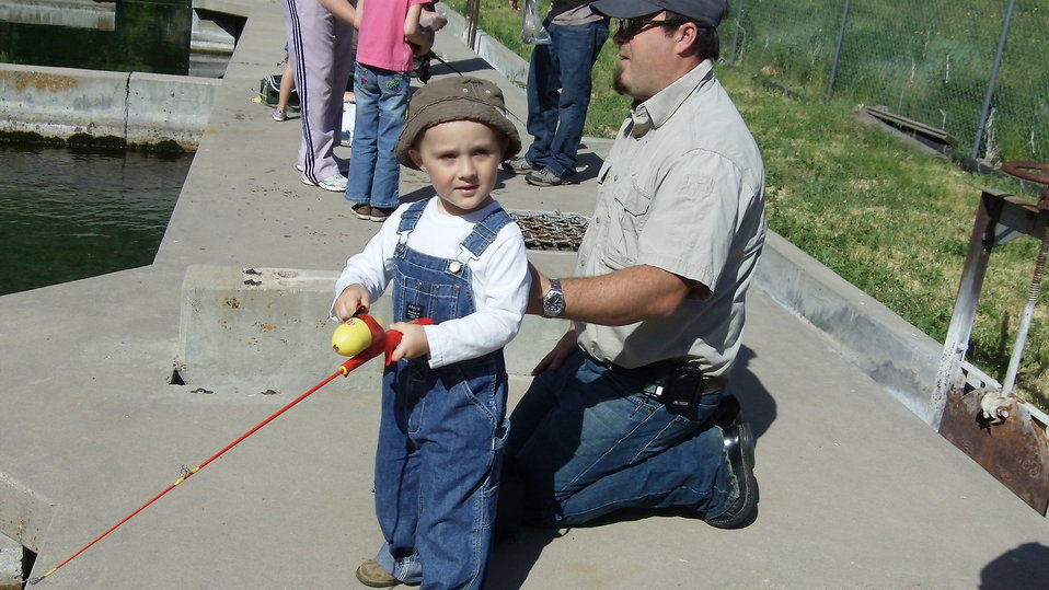 Young Boy in Fishing Gear