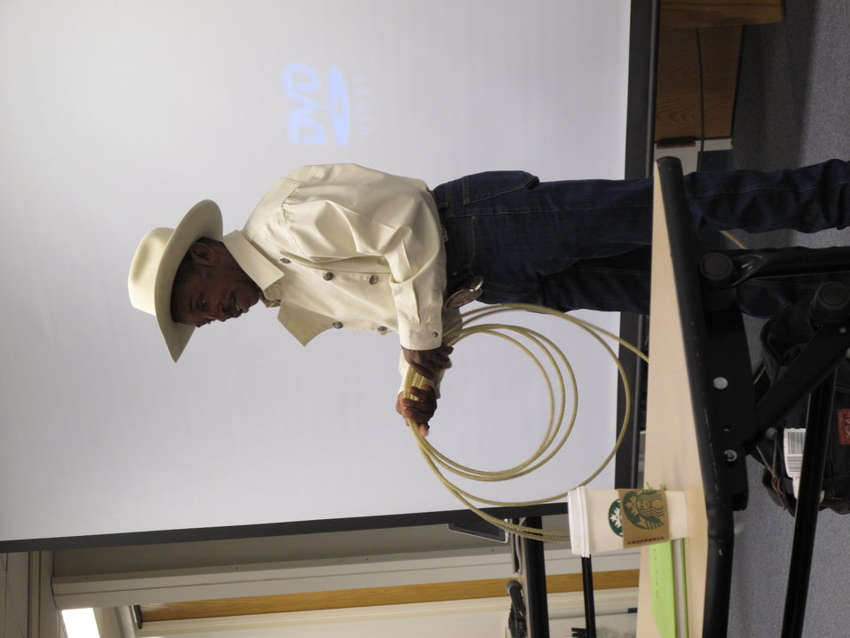 Charles Sampson and his lasso