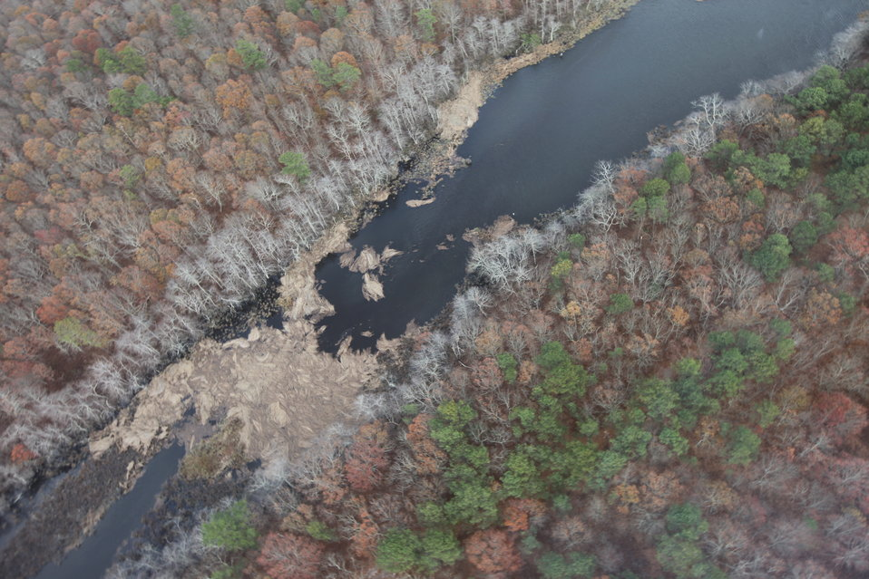 Aerial view of Wertheim National Wildlife Refuge after Hurricane Sandy (NY)
