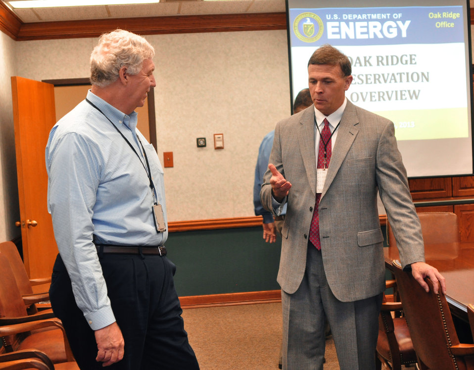 Richard Serino Deputy Administrator, FEMA and Don Thress Chief Counsel for DOE ORO in Oak Ridge 2013