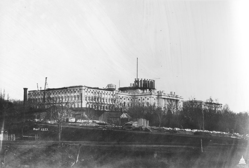 Capitol Under Construction 1857
