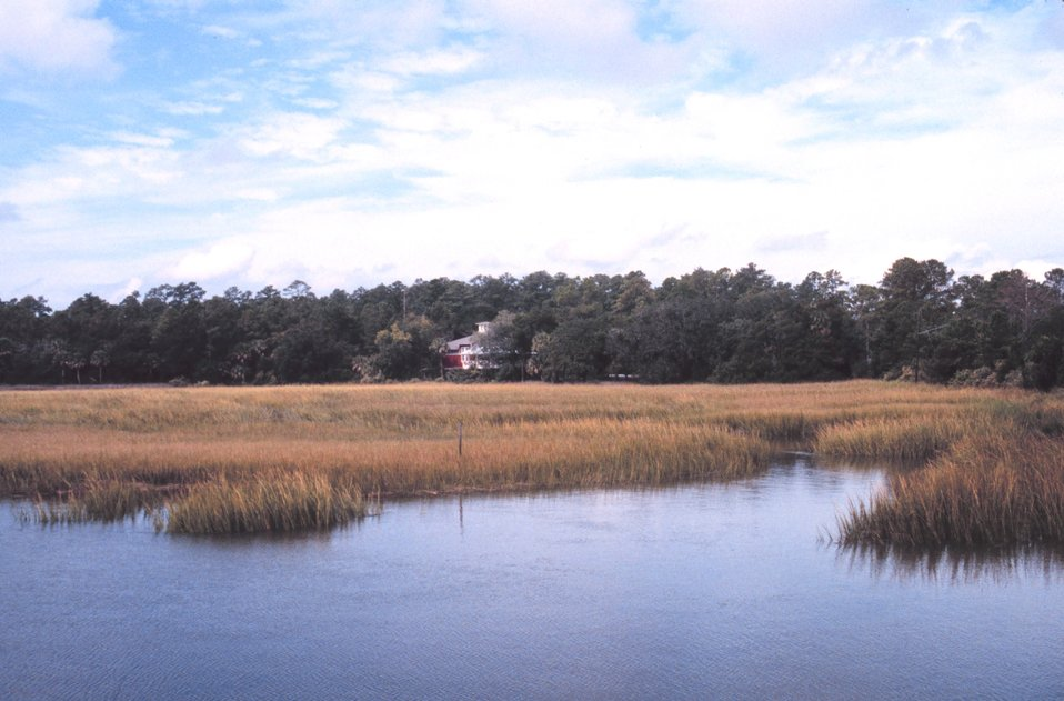 The Sapelo Island visitor center near Meridian Dock on the Georgia mainland. Tours of the Sapelo Island National Estuarine Research Reserve begin here.