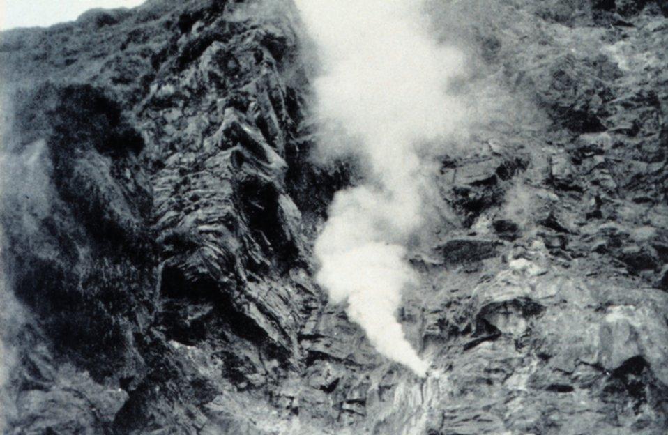 A fumarole at Kagamil Island.