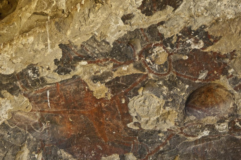 Pictograph at Painted Rock, Carrizo Plain 1