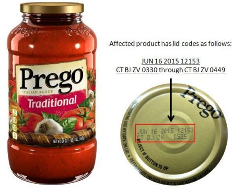 RECALLED – Traditional Italian Sauce