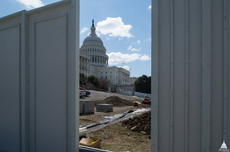 Capitol Dome Restoration - Staging Area Setup