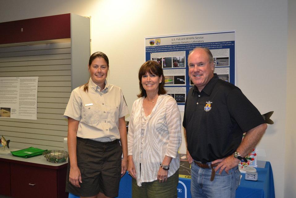 FWS staff with Rep. McCollum