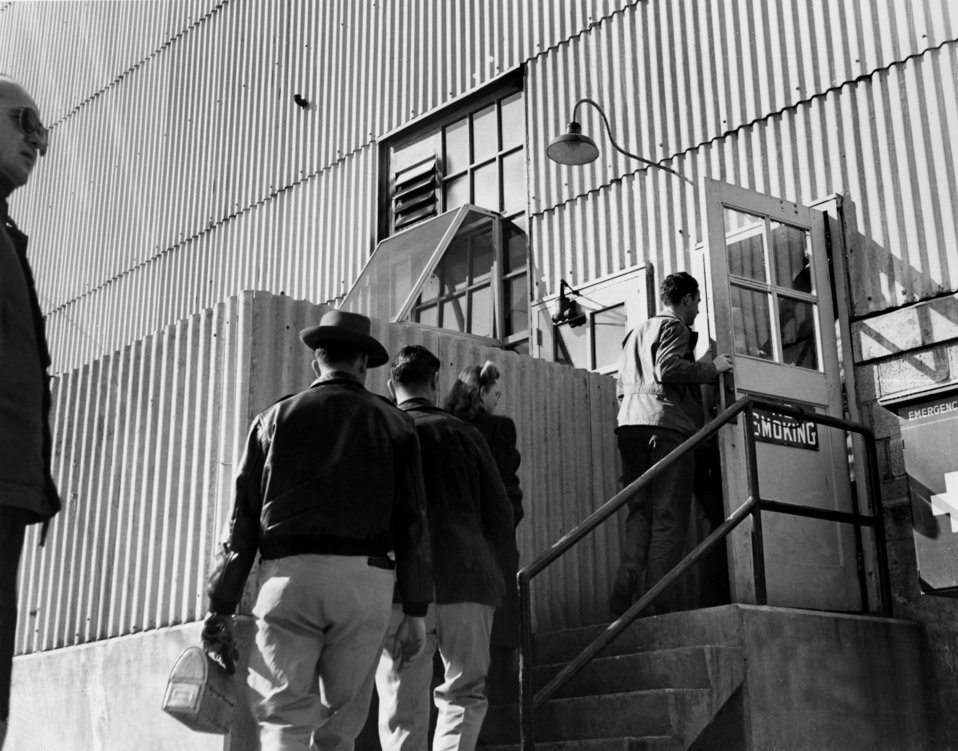 Workers Entering BLDG. at K-25 Oak Ridge 1949