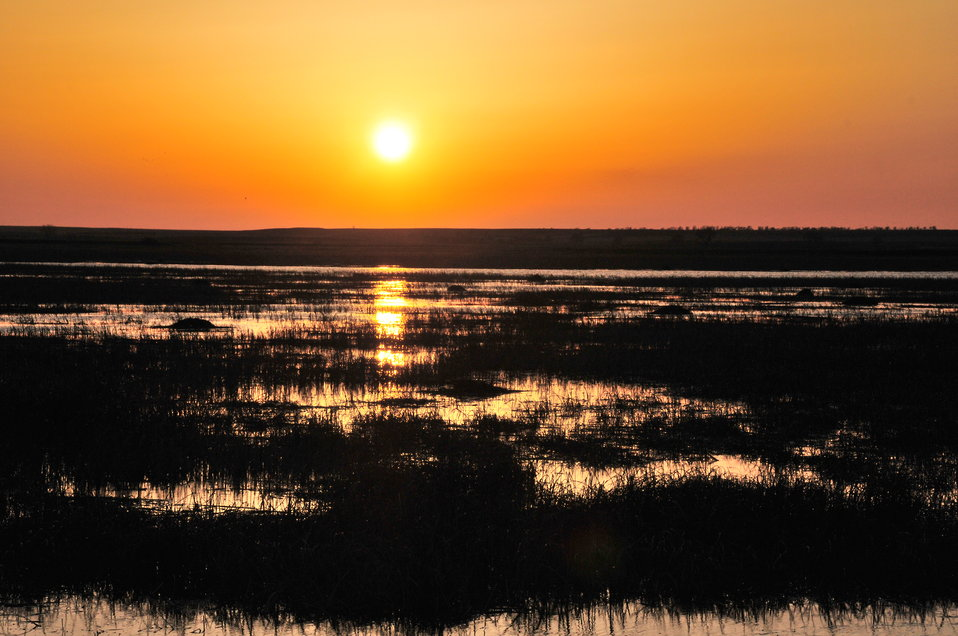 Pool 8 at sunset, Sand Lake National Wildlife Refuge