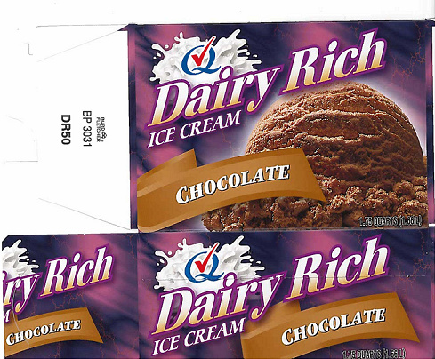 RECALLED - Chocolate Ice Cream