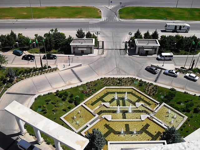 SCA Special Assistant Morgan Takes a Photo of Ashgabat, Turkmenistan