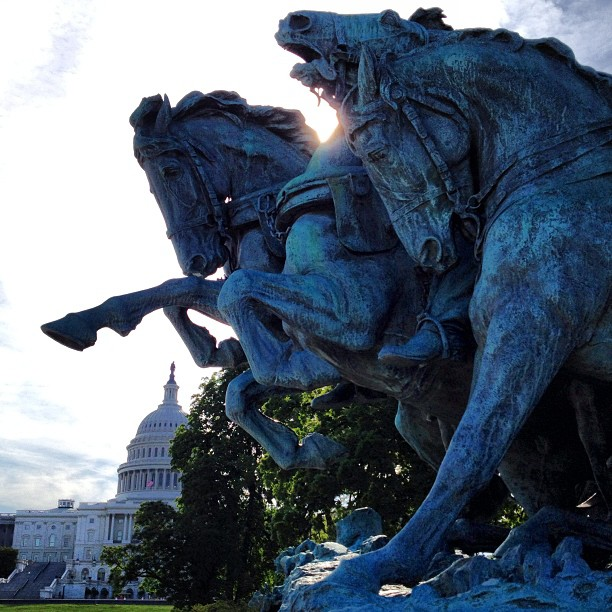 Civil War Cavalry Memorial on West Front of the Capitol