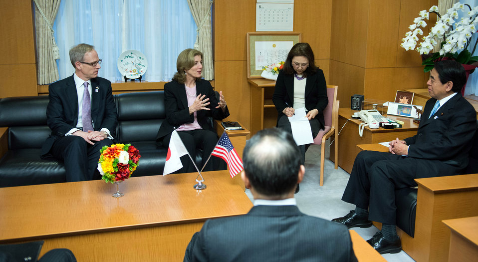 Ambassador Kennedy Meets With Japanese Education Minister Shimomura