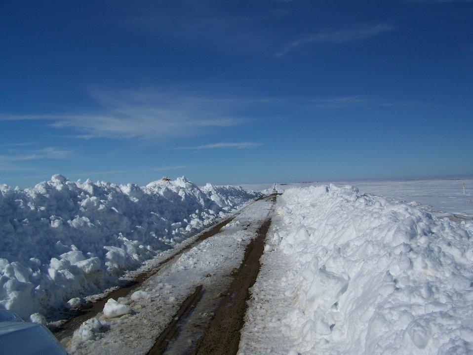 Record Snowfall - Bowdoin NWR