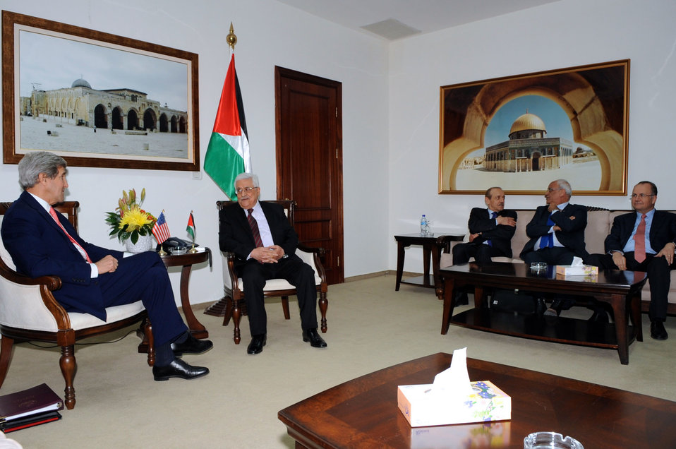 Secretary Kerry, President Abbas and Negotiating Team Meet in the West Bank