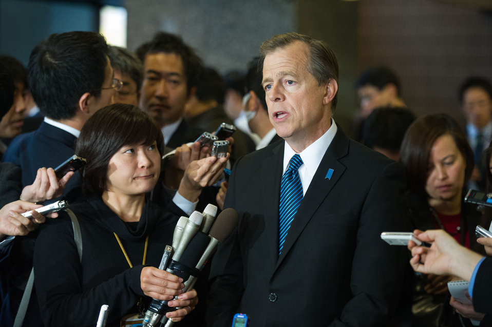 Special Rep for North Korea Davies Addresses Tokyo Media