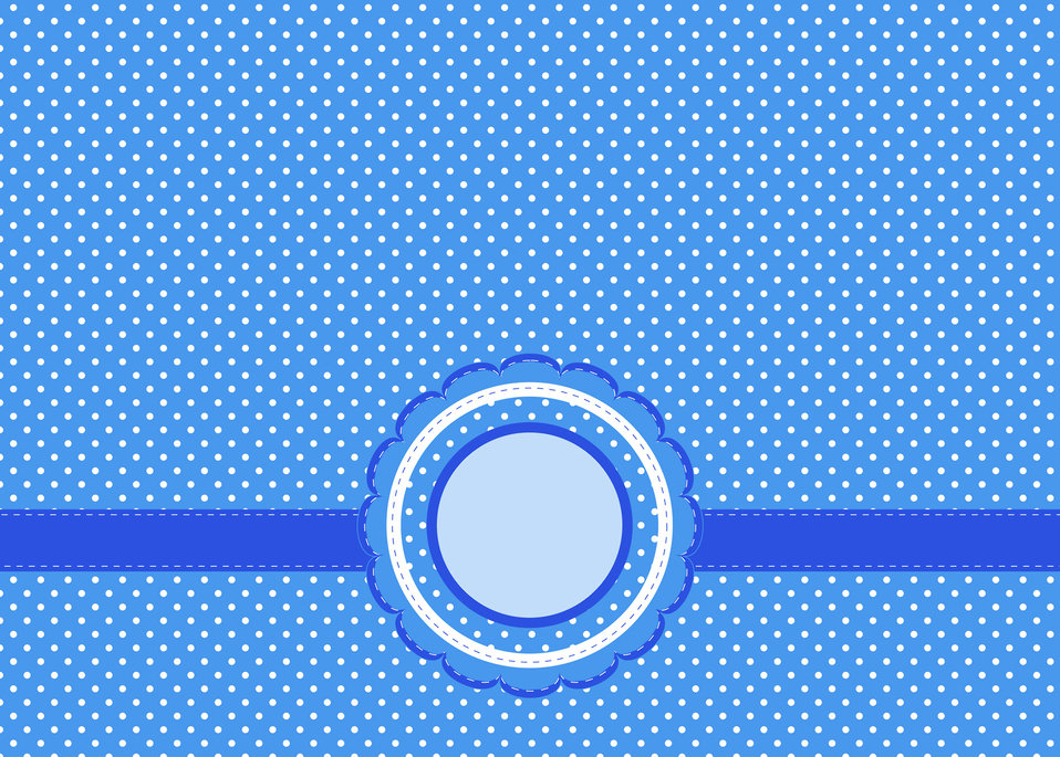 Blue polka dots background