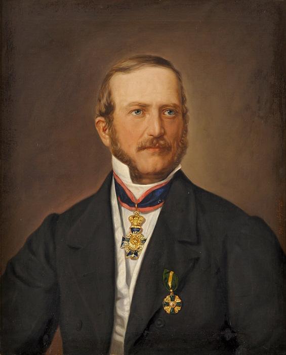 August Prinzhofer Portrait eines Ordenträgers 1862.jpg