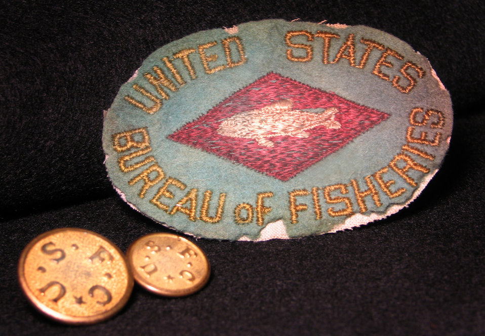 United States Bureau of Fisheries patch with United States Fish Commission buttons