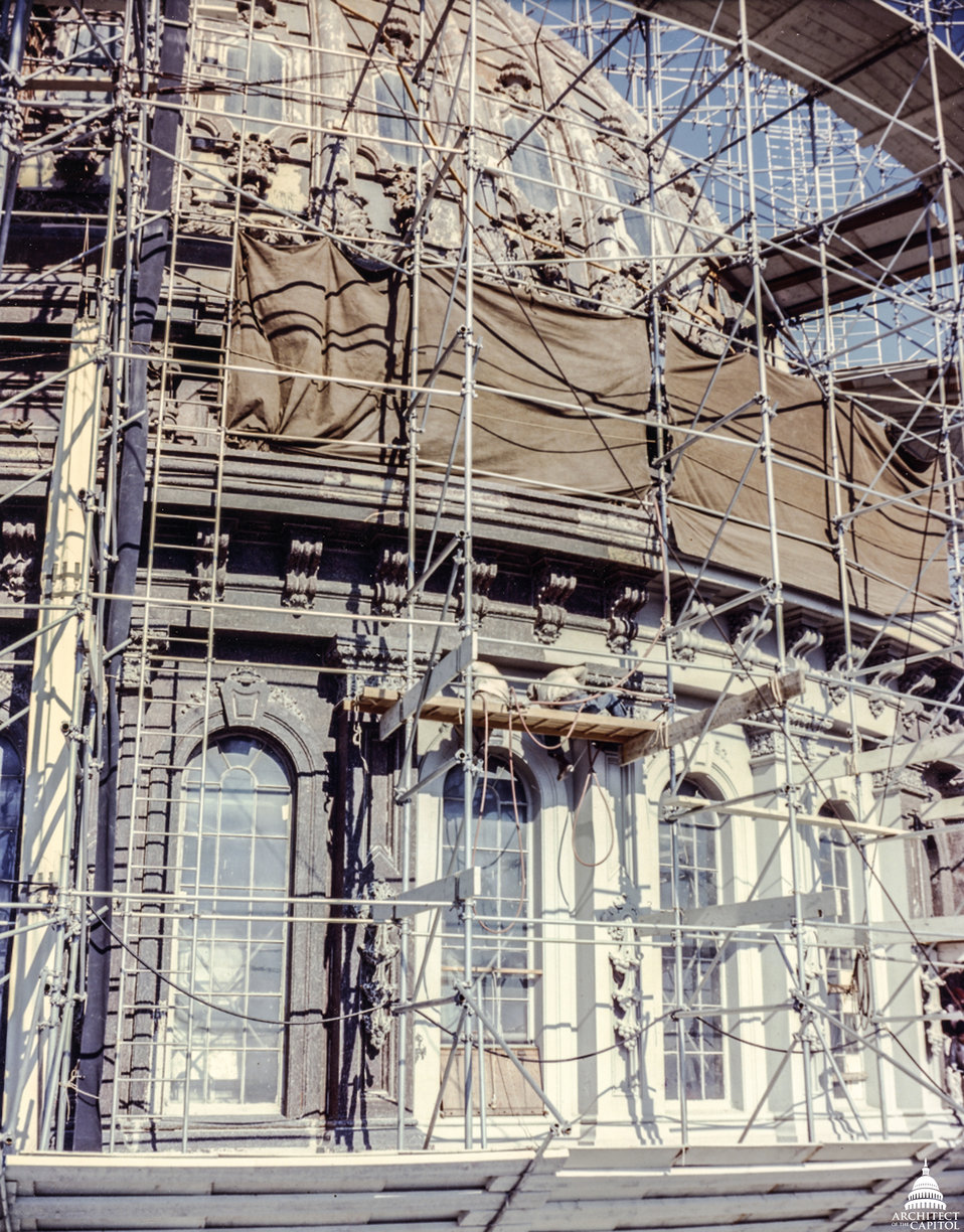 Scaffold Close-up during 1960 Repairs
