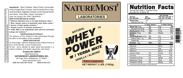 RECALLED - NatureMost Whey