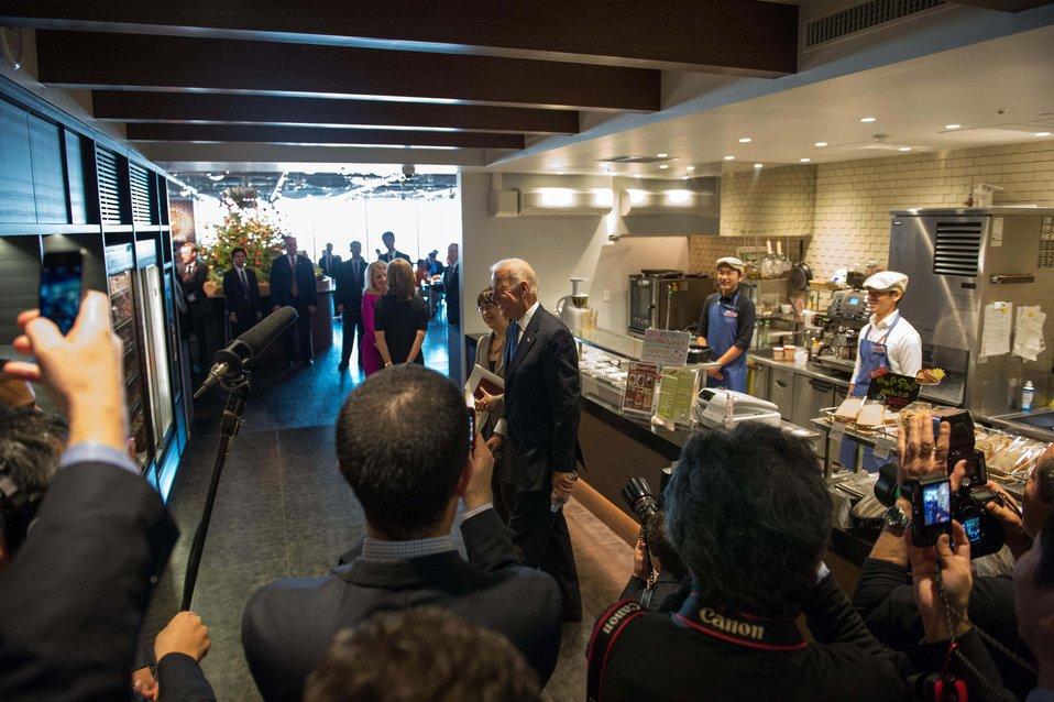 Vice President Biden Visits a Japanese Tech Company