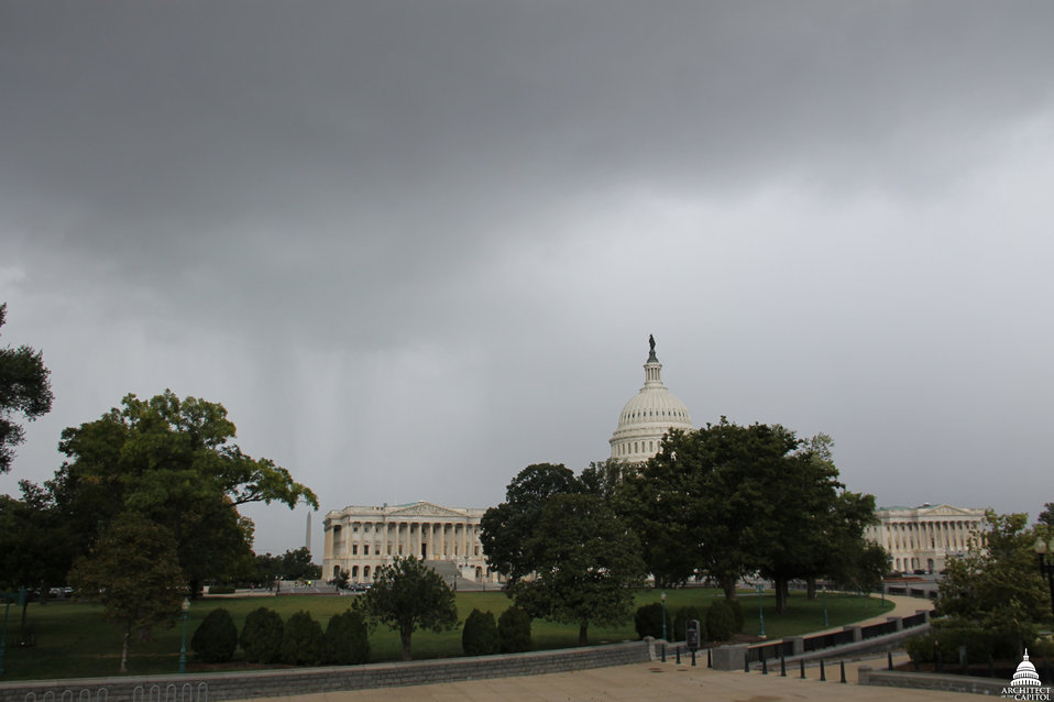Rain approaches Capitol September 2012
