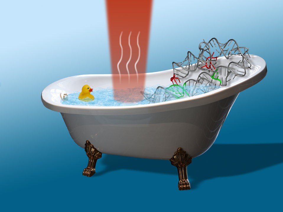 Some Like It Hot. How to Heat a Nano Bathtub the JILA Way