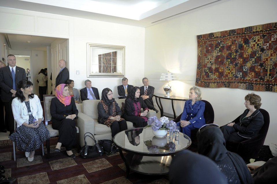 Secretary Clinton Participates in a Women's Empowerment Event