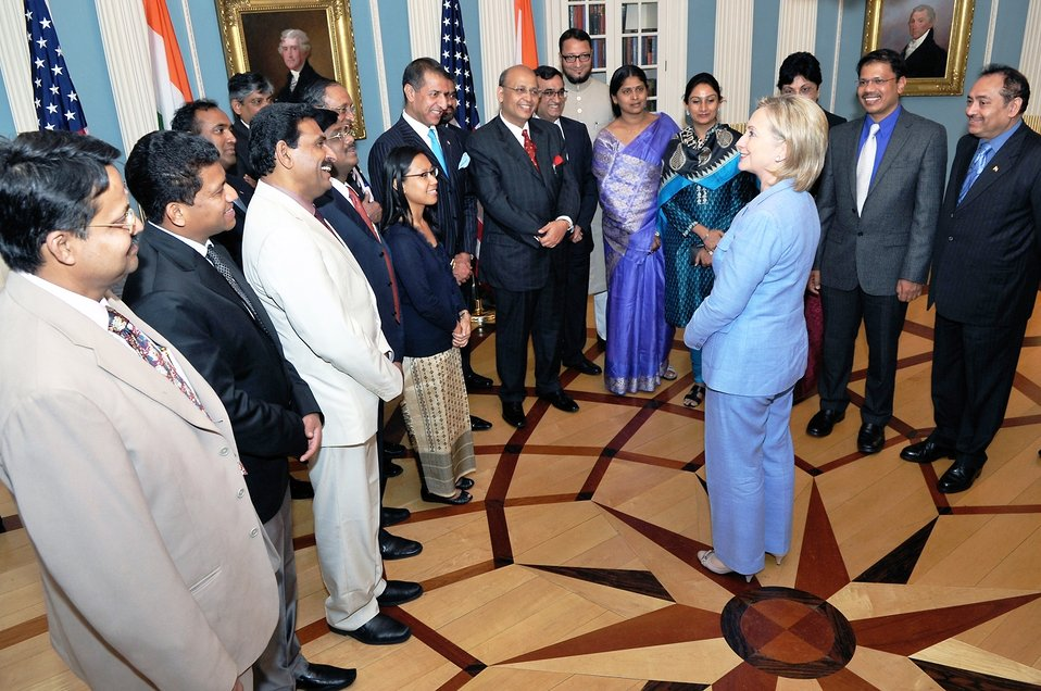 Secretary Clinton Speaks With Indian Parliamentarians
