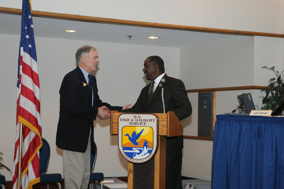 Jerome Ford (USFWS) introduced John Cornely, one of the contest judges.