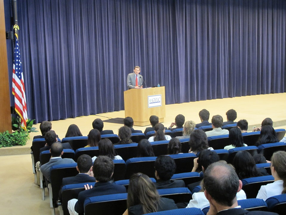 Special Representative Marc Grossman Addresses the Students of the Global Young Leaders Conference