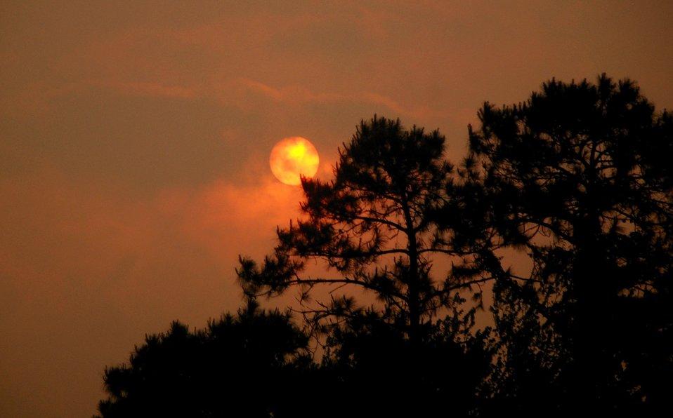 sun and smoke
