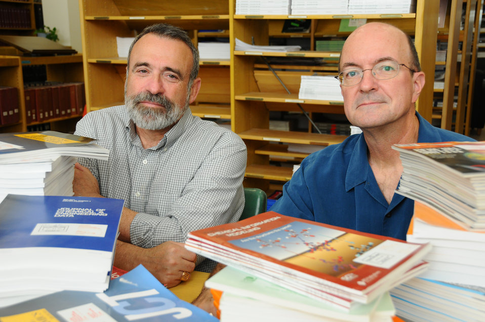NIST chemists Michael Frenkel and Robert Chirico